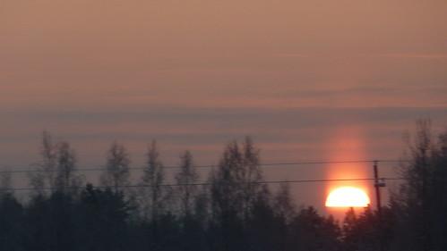 blue schnee winter sunset sky sun snow rot suomi finland lights licht finnland sonnenuntergang himmel arctic blau sonne kannus wärme arktisches