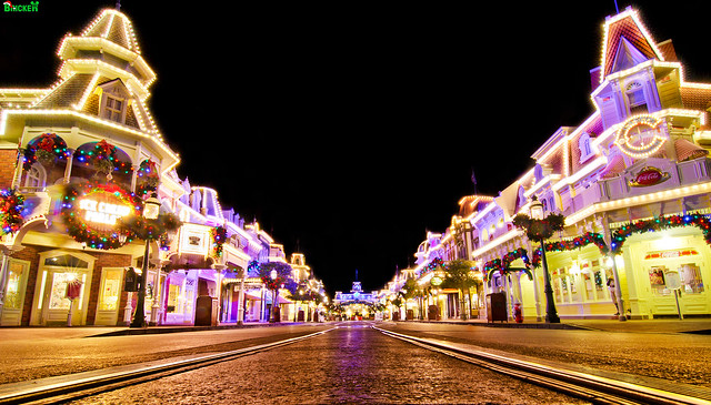 A Mouse-Eye View of Main Street at Christmas