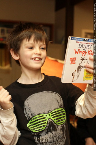 nick unwrapped a new movie   diary of a wimpy kid