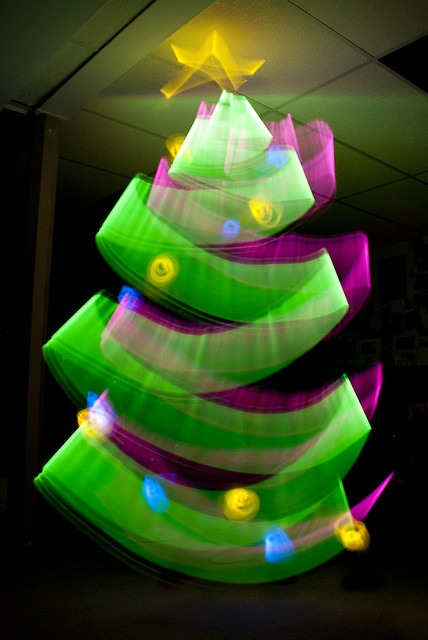 Light Painting! Christmas Tree