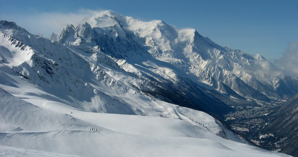Mont Blanc Range and Chamonix Valley