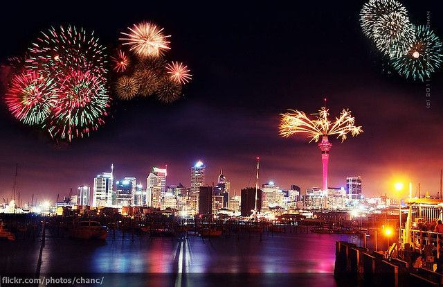 Auckland New Year's Eve Fireworks 2010