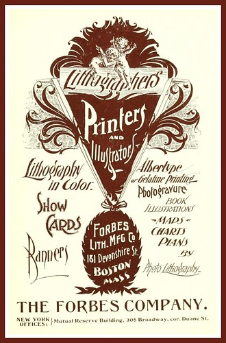 Vintage Advert for Forbes, Printers &  Lithographers  of Boston, Mass., 1895 by CharmaineZoe