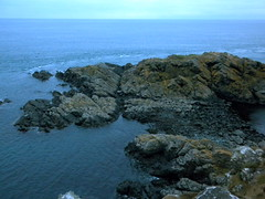 sea, ocean, bay, promontory, inlet, coast, rock,