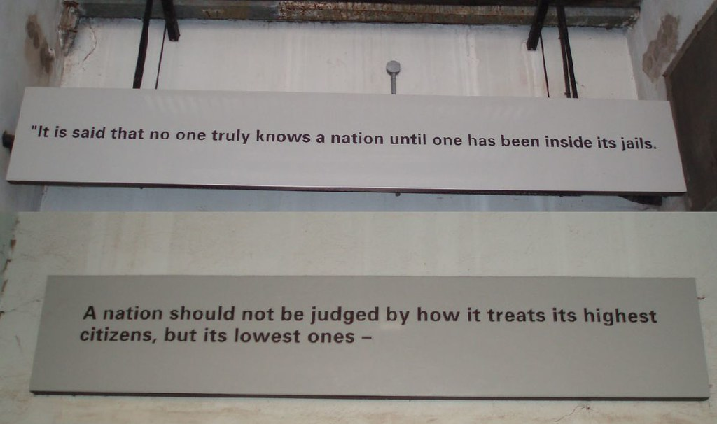 Nelson Mandela Quote In The Constitution Hill Museum Johan Flickr