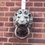 Town Hall, Priory Street, Dudley - lions on flagpoles