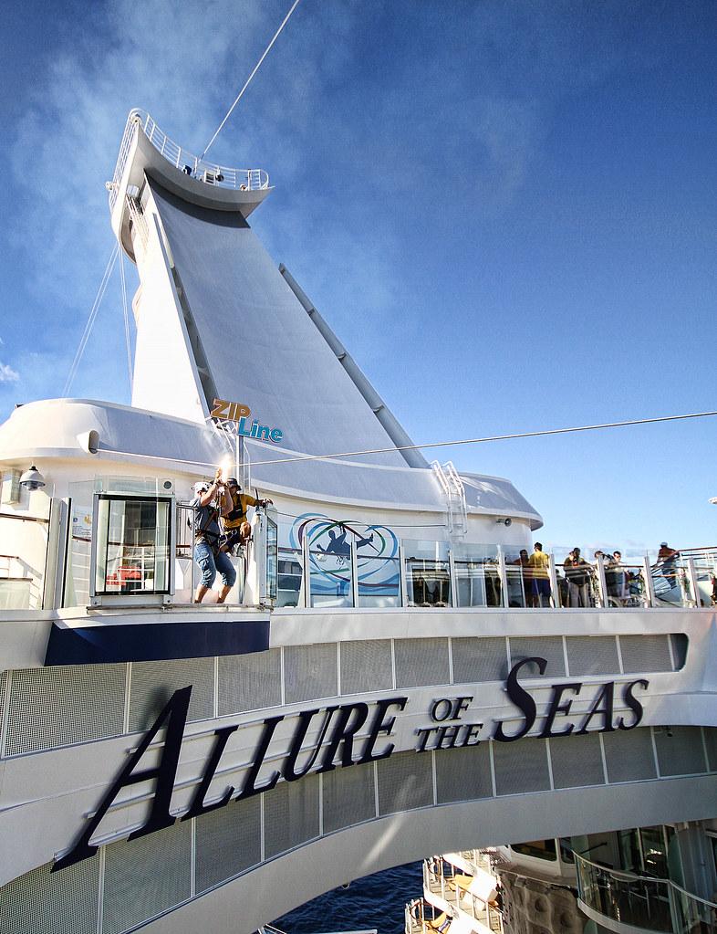 Allure of the Seas - Me in Zipline