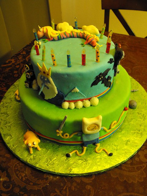 ADVENTURE TIME CAKE  Flickr - Photo Sharing!