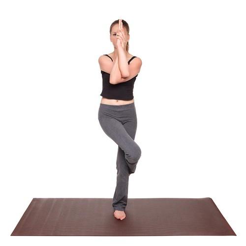 yoga poses - Eagle Pose position (garudasana)