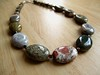 Ocean Jasper with wood and silver beads (currently for sale)