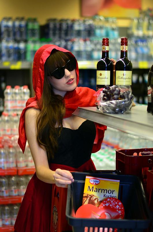 Modern Red Riding Hood.