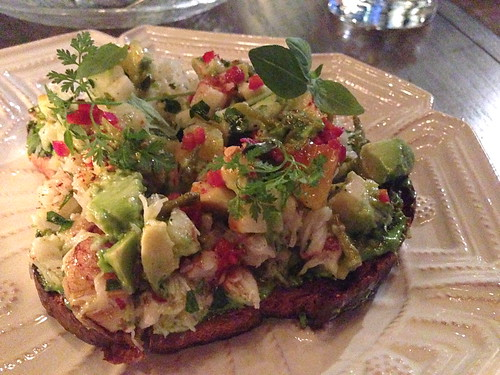 Dungeness Crab Toast at Faith and Flower