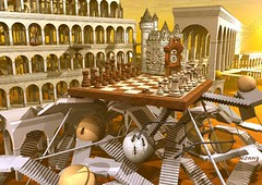 Chess Time Rome Surrealism escher art