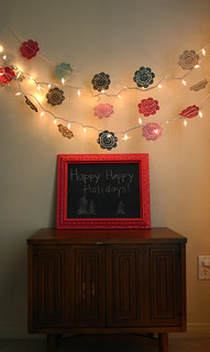 doily garland DIY