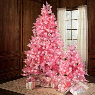 Abetos Navidad rosas