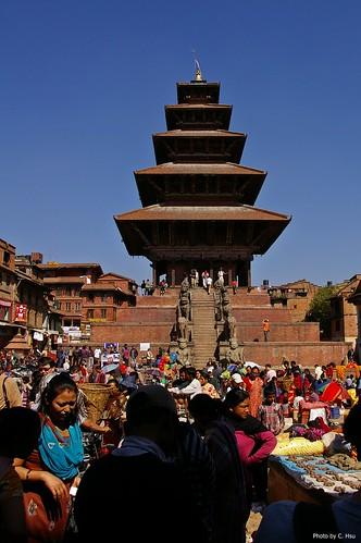 Bhaktapur - Taumadhi Square(陶馬迪廣場)- Nyatapola Temple