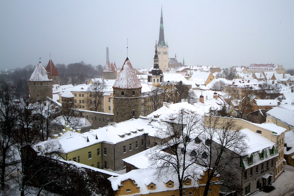 Tallin old town in Winter