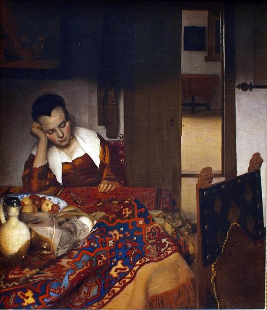 Maid Asleep, 1656–57, Johannes Vermeer