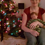 Dec. 16th - Our finished Xmas tree and one sleepy little boy.