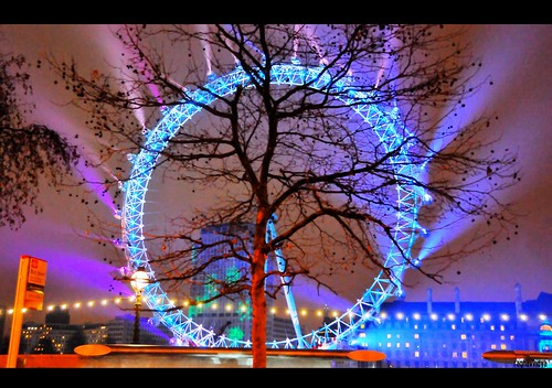 London Eye in winter