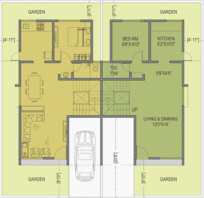 Twin bungalow elevation joy studio design gallery best Twin bungalow plans