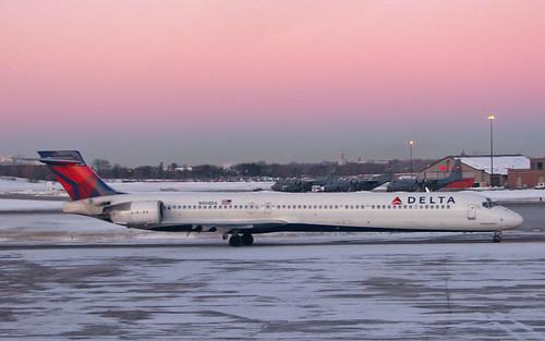 Delta MD-90 at Dusk
