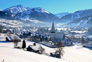 A more trivial view of Saanen (BE), Switzerland (church)