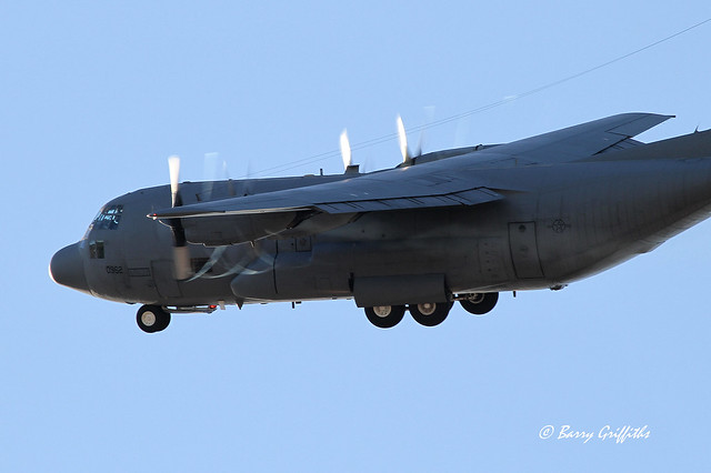 "... TC-130H Hercules USAF 65-0962 55th Electronics Combat Group ""Propwash"
