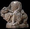 Arhat sitting on a lion by MuseumWales