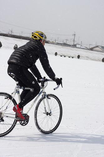 雪中関西シクロクロス