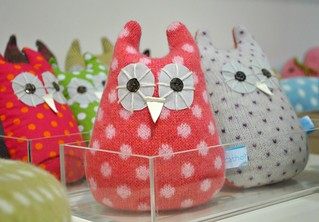 Catherine Tough knitted owls