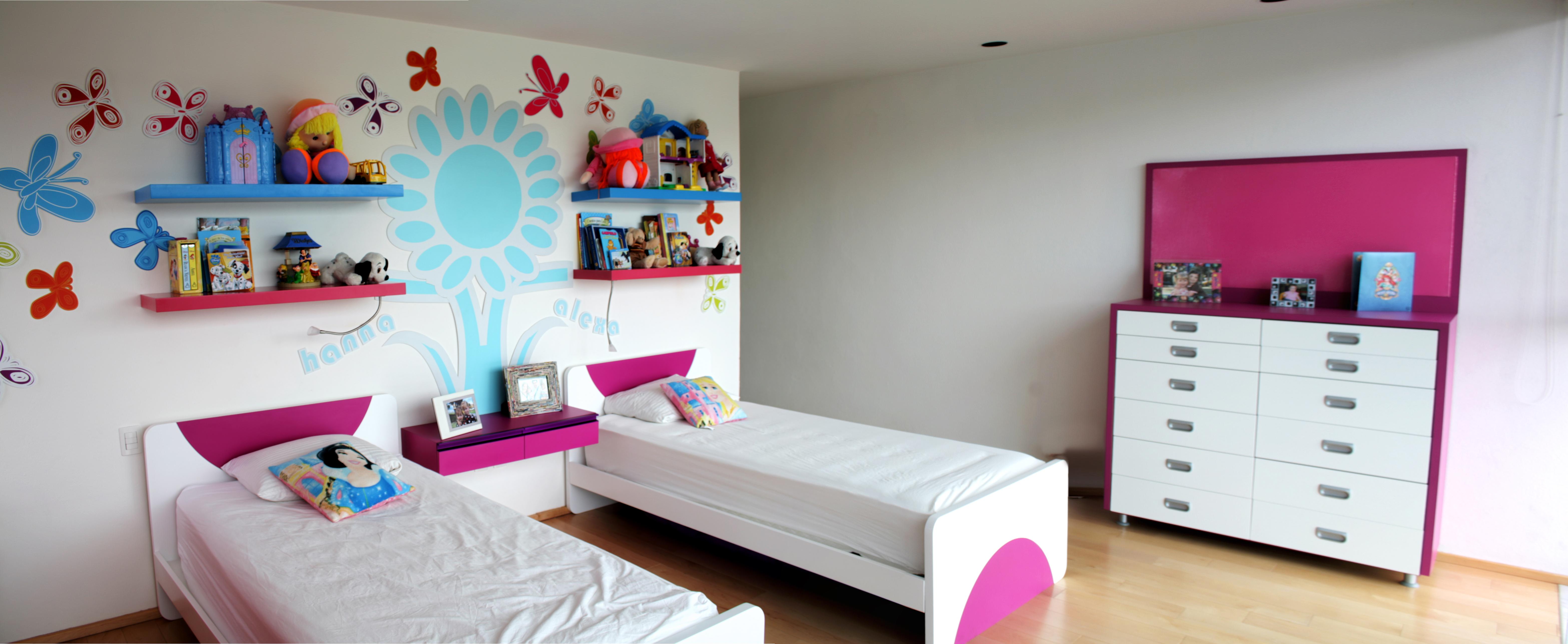 Dise o de habitaciones cuarto para ni as ambientacion for Habitaciones decoradas para ninas