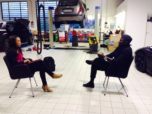 Sports Journalist Juliet Bawuah interviews Sulley Muntari