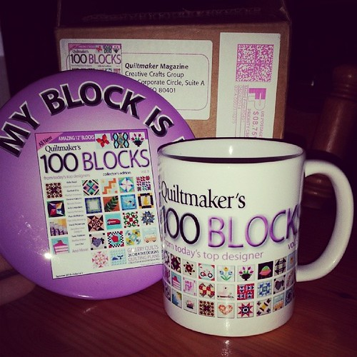 #100blocks swag is here! #quiltmaker