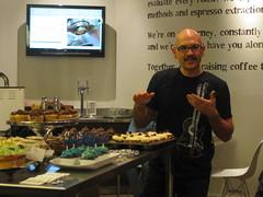 Chris describes his tasty-sounding cupcakes