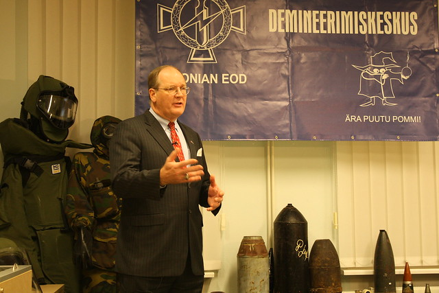 Ambassador Polt at Demining Equipment Handover, December 9, 2010