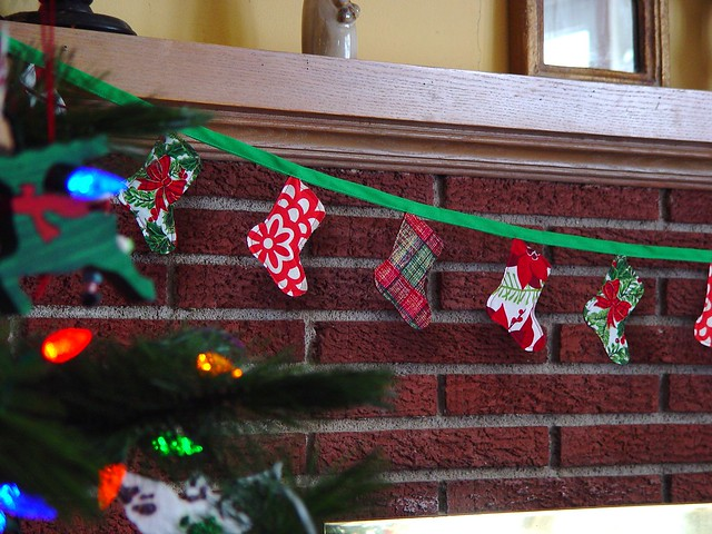 Christmas stocking bunting, view 2