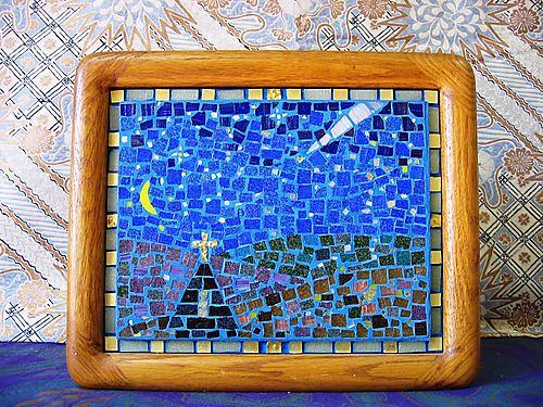 12.12③ガラスモザイク「聖夜」 99.11月制作 by Poran111