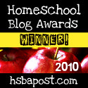 Homeschool Blog Awards winnter badge