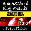 Homeschool Blog Awards winnter badge