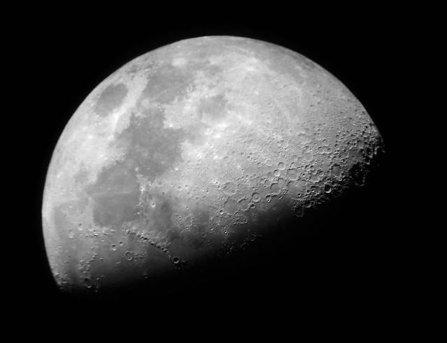 Luna primer cuarto o cuarto creciente for Cuarto menguante de la luna