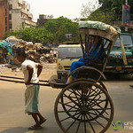 Man-Powered Rickshaw - Kolkata, India
