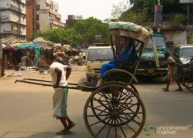 Man-Powered Rickshaw - Kolkata, India