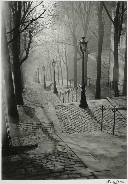 Les Escaliers de Montmartre, Paris, by Brassaï 1936