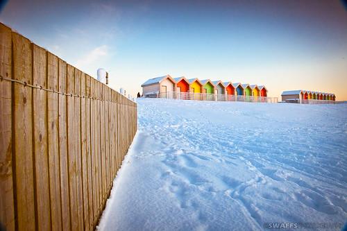 Blythe beach in the snow by Swaffs