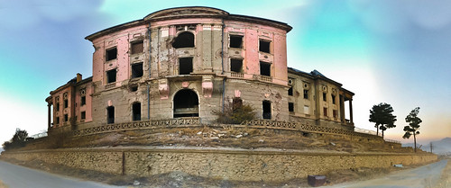 sunset panorama afghanistan abandoned war pano palace queen queens destroyed demolished kabul tmptag queenspalace