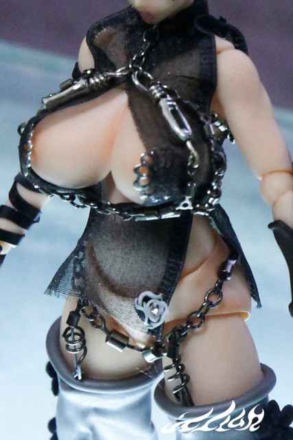 """Photo:""""deluxe dress"""" for revoltech """"Queen's blade"""" Cattleya Katrea リボルテックQB  リボルテック 武器屋 カトレア By Skinning Bear"""