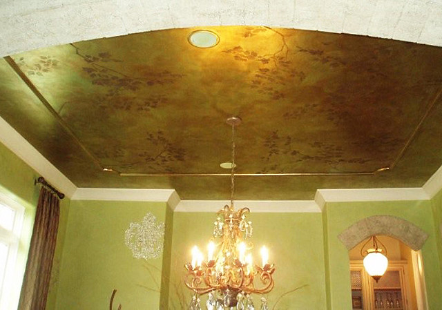 Stenciled Ceiling Beautiful Wall Stencils By Cutting Edge - ceiling stencils for walls designs