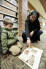reading about centipedes & millipedes in the library