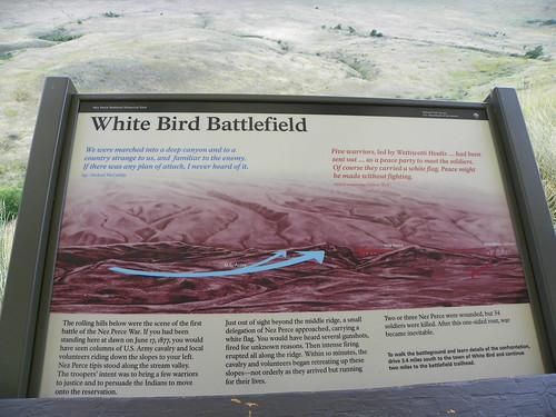 White Bird Battlefield Historical Marker